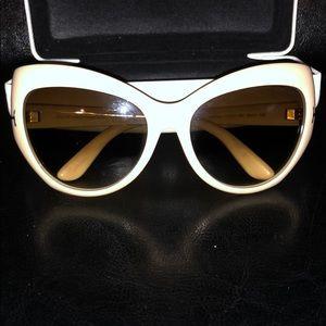 Tom Ford off white cat eye sunglasses